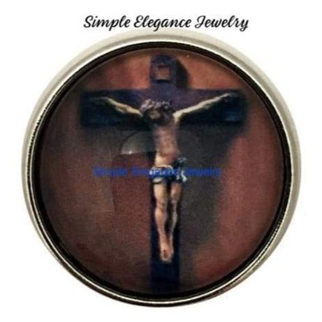 Jesus Crucifix Snap 20mm for Snap Jewelry - Snap Jewelry