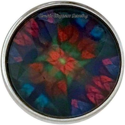 Kaleidoscope Snap Charm 20mm for Snap Jewelry - Snap Jewelry