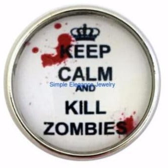 Keep Calm and Kill Zombies Snap 20mm - Snap Jewelry