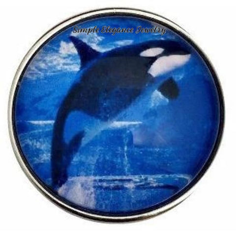 Killer Whale Snap Charm 20mm for Snap Jewelry - Snap Jewelry