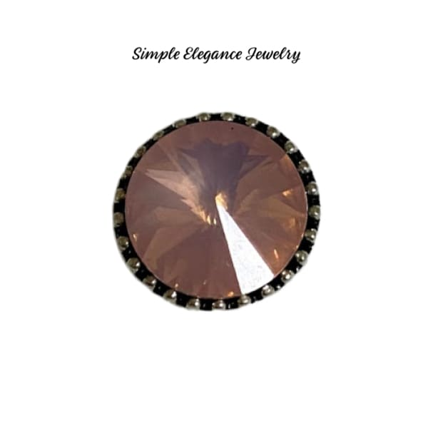 Large Rhinestone MINI Snap Charm12mm - Pink - Snap Jewelry