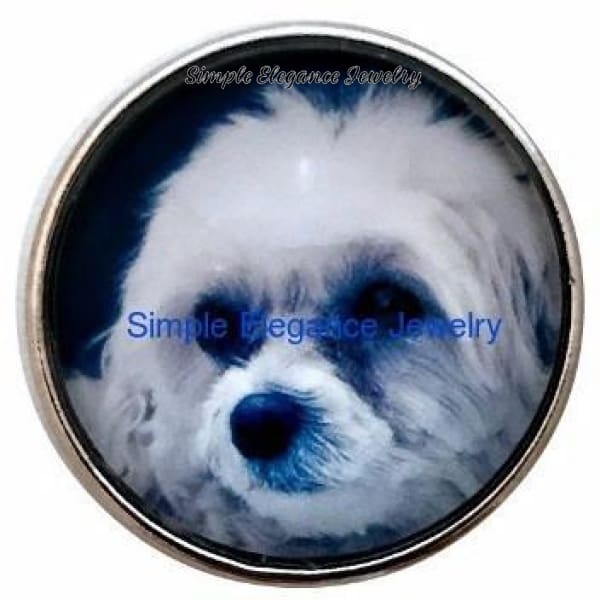 Maltese Dog Snap 20mm - Snap Jewelry