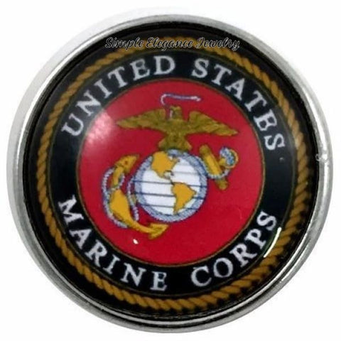 Marine Corp Military Snap 20mm for Snap Jewelry - Snap Jewelry