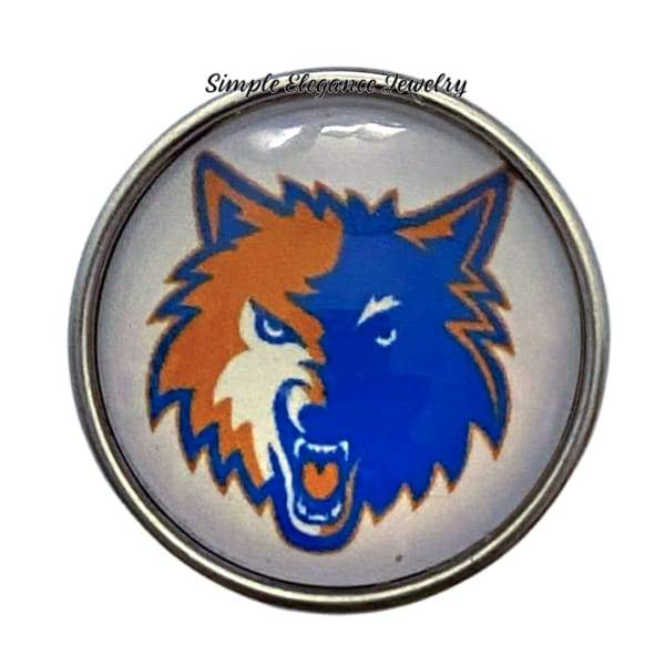 Mascot Sports Snap Charm 20mm - Snap Jewelry