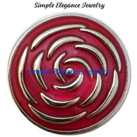Metal Pink Swirl Snap 20mm - Snap Jewelry