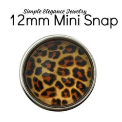 Mini Animal Print Snap Charm-12mm for Snap Jewelry - 1935 - Snap Jewelry