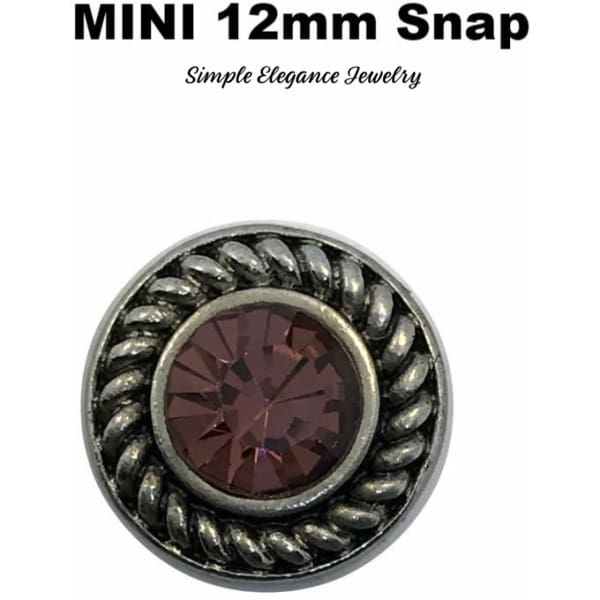 Mini Snap 12mm Purple Snap - Snap Jewelry