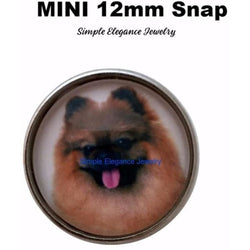 MINI SNAP----Pomeranian Dog Snap 12mm for Snap Jewelry - Snap Jewelry