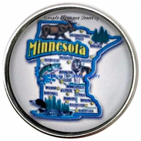 Minnesota State Snap 20mm for Snap Charm Jewelry - Snap Jewelry