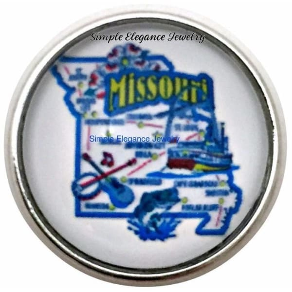 Missouri State Snap 20mm for Snap Charm Jewelry - Snap Jewelry