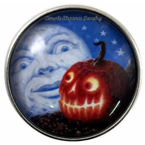 Moon-Jack-O-Lantern Snap 20mm for Snap Jewelry - Snap Jewelry