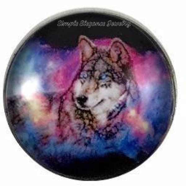 Multi Colored Wolf Snap Charm 20mm for Snap Charm Jewelry - Snap Jewelry