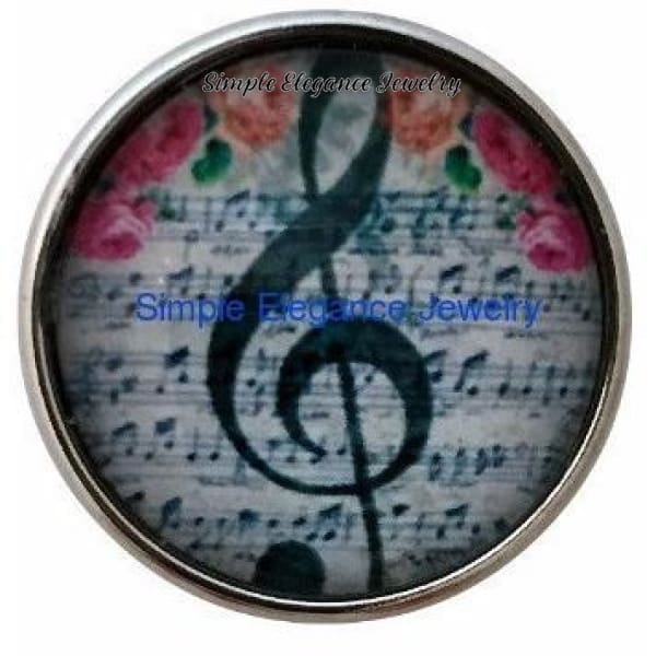 Music Clef Note Snap 20mm - Snap Jewelry