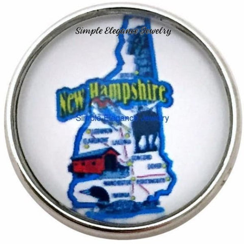 New Hampshire State 20mm for Snap Jewelry - Snap Jewelry