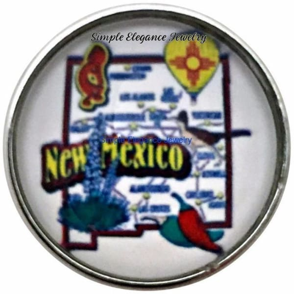 New Mexico State Snap 20mm for Snap Jewelry - Snap Jewelry