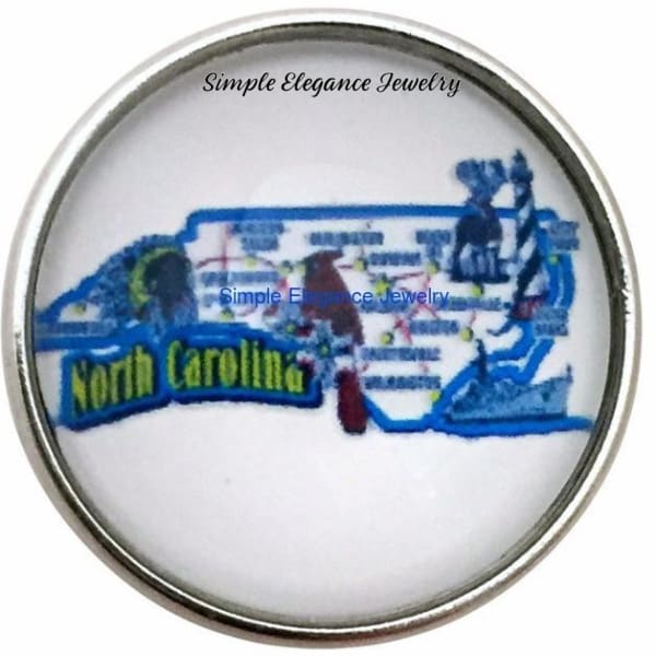 North Carolina State Snap 20mm for Snap Charm Jewelry - Snap Jewelry