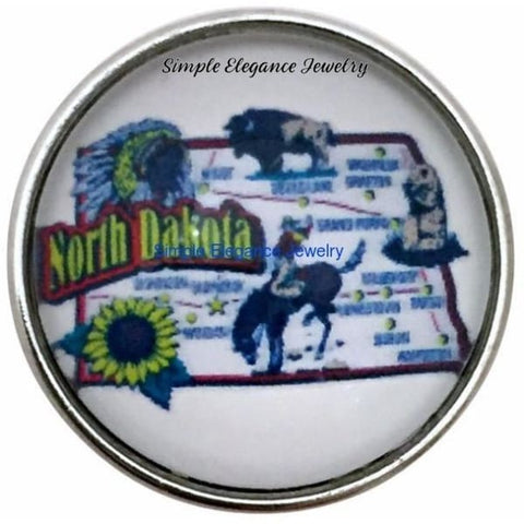 North Dakota State Snap 20mm for Snap Jewelry - Snap Jewelry