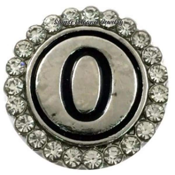 Number Snaps (0-9 To Choose From) Rhinestone Snap Charm 20mm - Snap Jewelry