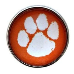 Orange Paw Print Snap 20mm for Snap Jewelry - Snap Jewelry