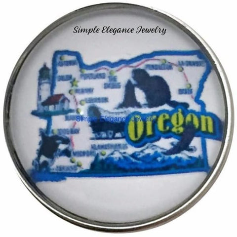 Oregon State Snap 20mm for Snap Charm Jewelry - Snap Jewelry