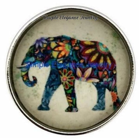 Painted Elephant Snap 20mm for Snap Jewelry - Snap Jewelry