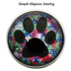 Paw Print Snap Charm 20mm for Snap Jewelry - Snap Jewelry