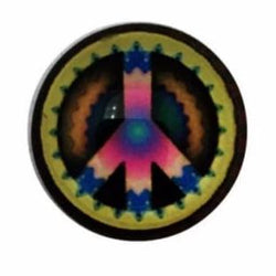 Peace Sign Snap Charm 18mm - Snap Jewelry