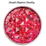 Pink Cracked Ice Acrylic Snap 18mm for Snap Jewelry - Pink - Snap Jewelry
