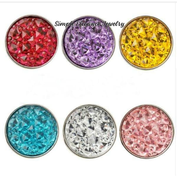 Pink Cracked Ice Acrylic Snap 18mm for Snap Jewelry - Snap Jewelry