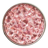 Pink Cracked Ice Acrylic Snap 18mm for Snap Jewelry - Light Pink - Snap Jewelry