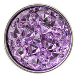 Pink Cracked Ice Acrylic Snap 18mm for Snap Jewelry - Purple - Snap Jewelry