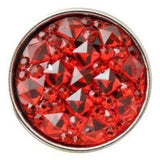 Pink Cracked Ice Acrylic Snap 18mm for Snap Jewelry - Red - Snap Jewelry