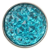 Pink Cracked Ice Acrylic Snap 18mm for Snap Jewelry - Turquoise - Snap Jewelry