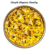 Pink Cracked Ice Acrylic Snap 18mm for Snap Jewelry - Yellow - Snap Jewelry