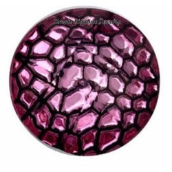 Pink Crackled Acrylic Snap 18mm for Snap Jewelry - Snap Jewelry