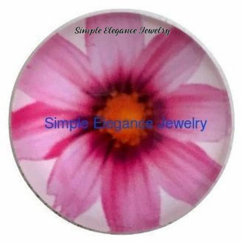 Pink Daisy Snap 18mm - Snap Jewelry
