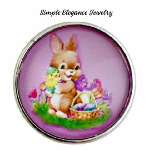Pink Easter Rabbit Snap 20mm for Snap Jewelry - Snap Jewelry