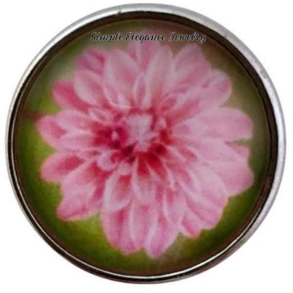 Pink Flower Snap 18mm for Snap Jewelry - Snap Jewelry