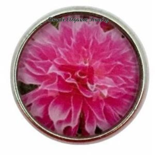Pink Flower Snap 20mm for Snap Jewelry - Snap Jewelry