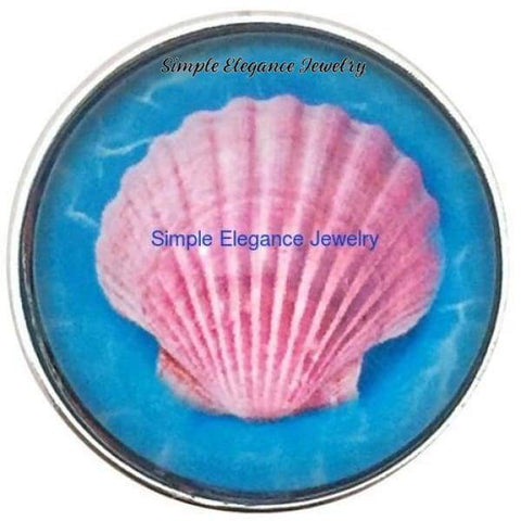 Pink Sea Shell 20mm Snap - Snap Jewelry
