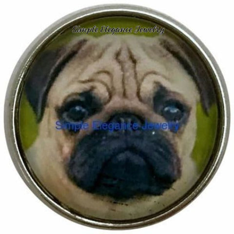 Pug Dog Snap 20mm for Snap Jewelry - Snap Jewelry