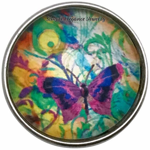 Purple Butterfly Snap Charm 20mm for Snap Jewelry - Snap Jewelry