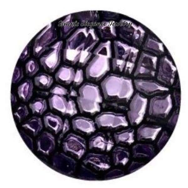 Purple Crackled Acrylic Snap 18mm for Snap Jewelry - Snap Jewelry