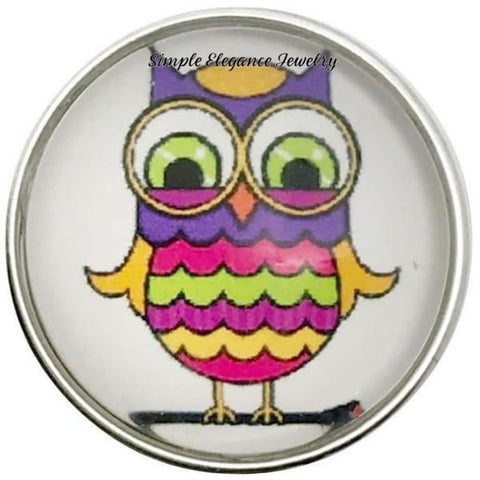 Rainbow Owl Snap 20mm for Snap Jewelry - Snap Jewelry