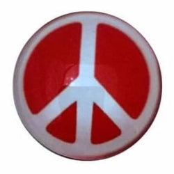 Red Peace Sign 18mm for Snap Jewelry - Snap Jewelry