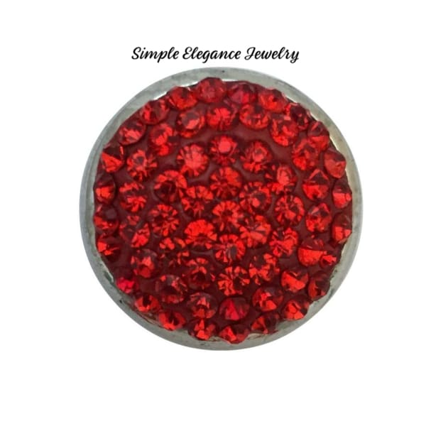 Red Rhinestone 12mm MINI Snap - Snap Jewelry