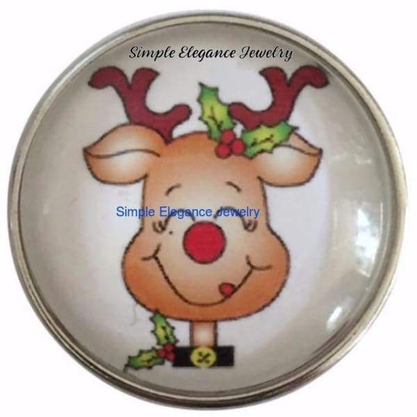 Cute Reindeer Christmas Snap 20mm for Snap Jewelry - Snap Jewelry