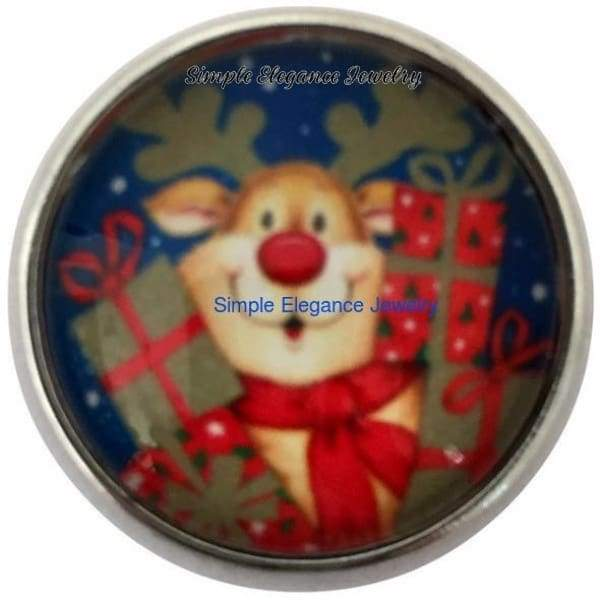 Reindeer Present Christmas Snap for 20mm Snap Jewelry - Snap Jewelry