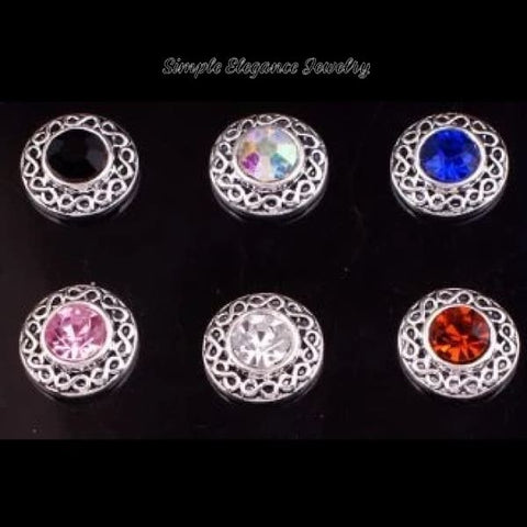 Rhinestone 12mm MINI for Snap Charm Jewelry - Irridescent MINI - Snap Jewelry