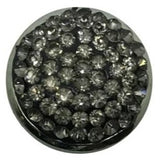 Rhinestone Bling Snap 20mm (Assorted Colors) - Charcoal Gray - Snap Jewelry